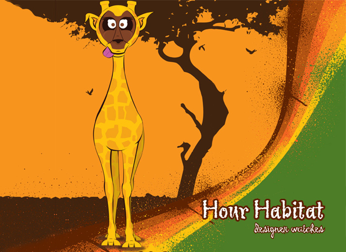 Hour Habitat Giraffe Illustration