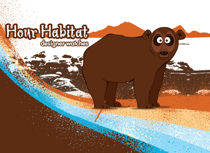 Hour Habitat Bear Illustration