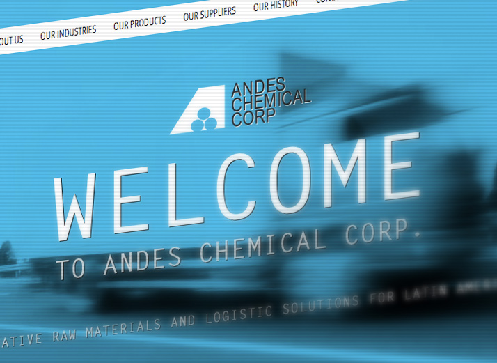 Andes Chemical Website Design & Development